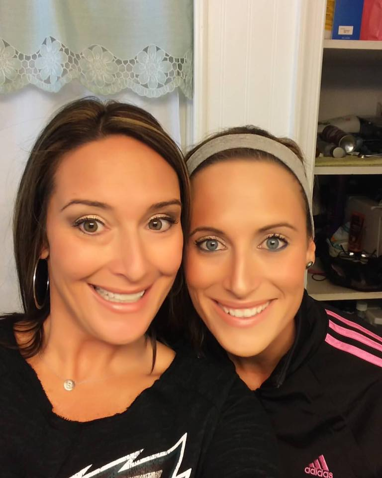 My sister and I both wearing Younique's Mineral Touch concealer and lique foundation