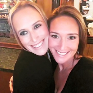 My sister and I wearing Younique Mineral Touch liquid foundation (Me= organza; Sister=Chiffon)